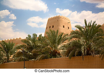 Old arabic city - Streets of the old city Diriyah near Ar...