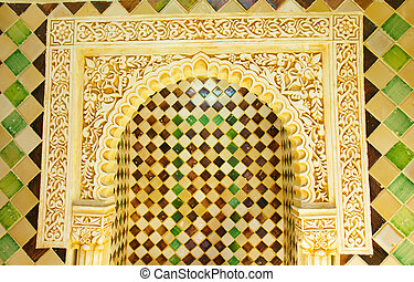 old arch with arabesque, Cordoba, Spain.
