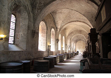 Old arches on vineyard
