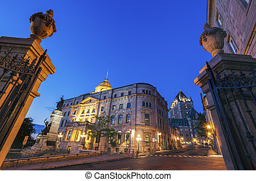 Old architecture of Quebec City. Quebec City, Quebec,...