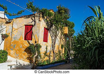 Anafiotika in Plaka Athens - Old area of Anafiotika in Plaka...
