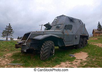 Old armored car