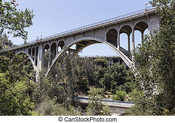 Old Arroyo Bridge Pasadena, California - Historic Colorado ...
