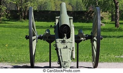 Old artillery cannon - Cannon at the historic civil war
