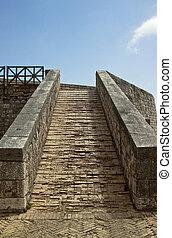 Old ascending walkway