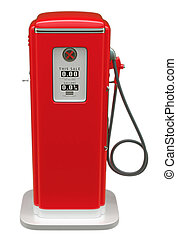 Old asoline pump isolated over white