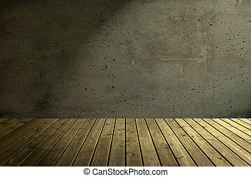 Old dark attic as a background.
