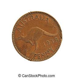 Old Australian penny