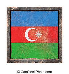 Old Azerbaijan flag - 3d rendering of an Azerbaijan flag...