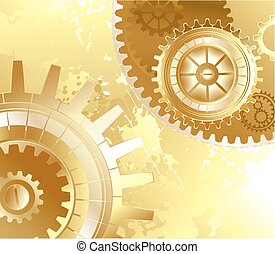 old background with gold gears