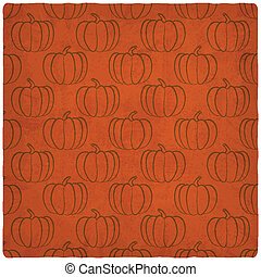 old background with pumpkins seamless pattern