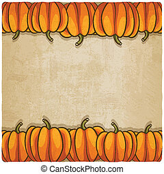 old background with pumpkins