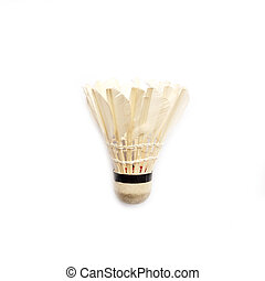 Old badminton isolated on a white background