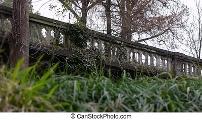 Old Balustrade with Barbed Wire 1 - Old Balustrade with...