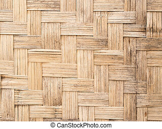 old bamboo craft texture and background