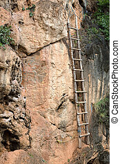 Old bamboo ladder