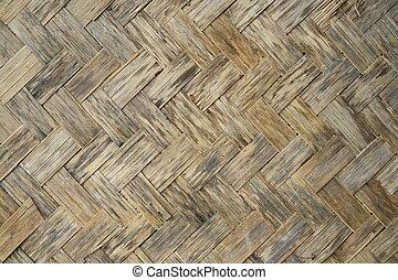 Old bamboo wood texture ,Thai handwork