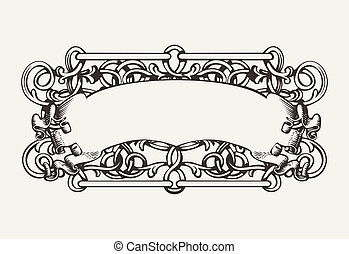 Old Banner High Ornate Background