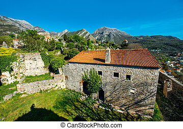 Old Bar, Montenegro - Old Bar city view on ruins in...
