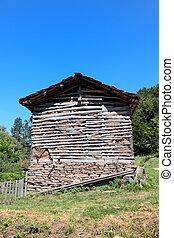 Old barn at Balkan Mountain (Stara Planina) National Park in Serbia Europe