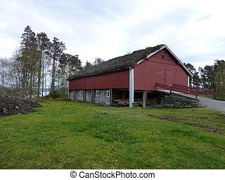 Old barn at Sunnmoere Museum, Aalesund, Norway