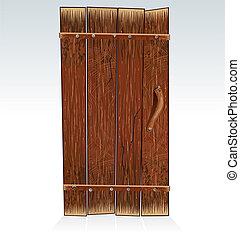 Old Barn Door, vector Illustration