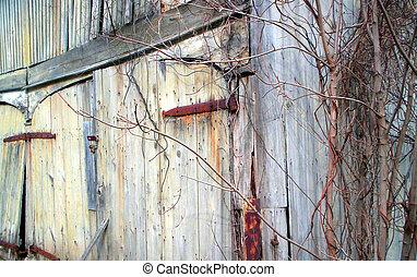 Old Barn Door - Weathered old barn door