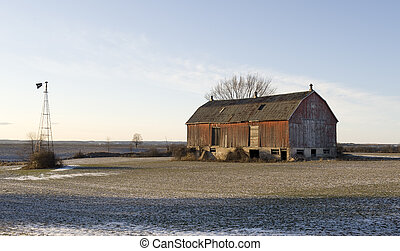 old barn in the country