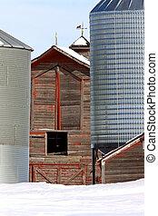 Old Barn in Winter Saskatchewan