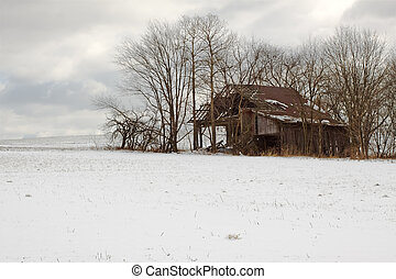 Old Barn in Winter