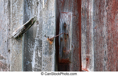 Old barn lock