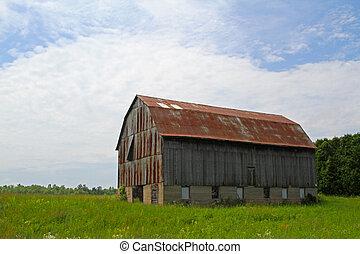 Old barn on a hilltop