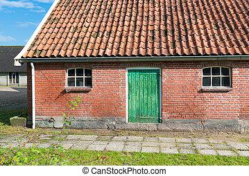 barn with green door