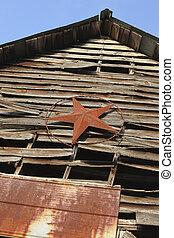 Old Barn with Tin Star