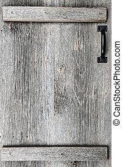 Old barn wood door - Distressed rustic barn wood door with...