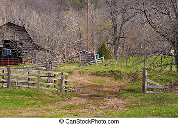 Old Barn Yard - A nice view of an old barn yard with the old...
