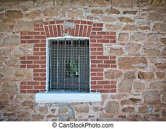 barred jail window