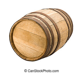 Old Barrel isolated on a white background