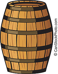 old barrel (wooden barrel)