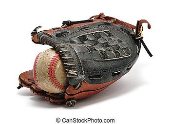 Old Baseball and Glove