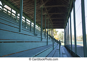 Old baseball stadium bleacher seats - Old baseball stadium...