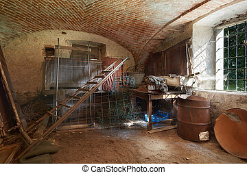 Old basement in ancient house