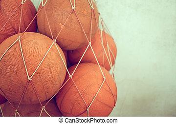 Old basketball  ( Filtered image processed vintage effect. )