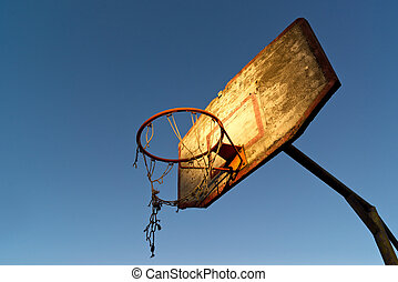 Old basketball hoop