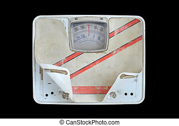 old bathroom scale