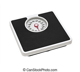 Old Bathroom Scale - Old bathroom scale. Worn from many...