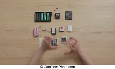 Old Batteries Used - Old batteries used phone unrecognizable...