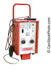 Old battery charger for car use in battery seller.