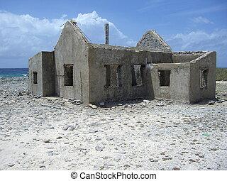 beach house ruins