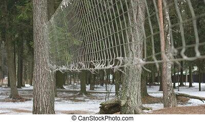 Old beach volleyball net